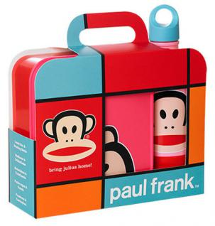 "Paul Frank Lunch-Set "" bring Julius home!"" Pink 1x Lunch Box, 1x Trinkflasche NEU"