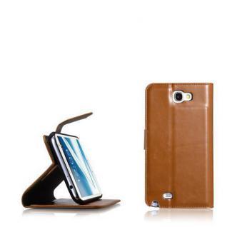 Blumax Kunstleder Wallet Bookstyle Case Tasche für Samsung Galaxy Note 2/ N7100