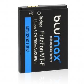 Blumax Akku Accu Batterie für AVM FRITZ!Fon MT-F, M2, AVM 20002446, Fritz!Fon C4