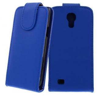 Kunstleder Tasche für Samsung Galaxy S4 Mini Dunkelblau-Handytasche mit Schutzfo