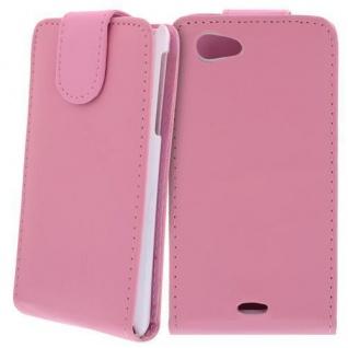 Für Sony Xperia J Handy Flip Case Tasche Hülle Schutz Pink