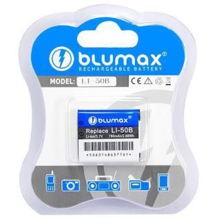 Akku accu battery für Olympus LI-50B, Panasonic VW-VBX090, RICOH DB-100 blumax