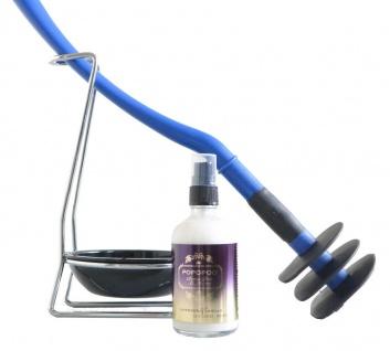 Mr Sanitär Blau+Zubehör + POPOPOO Toilettenspray / Lavendel-Vanille Duft