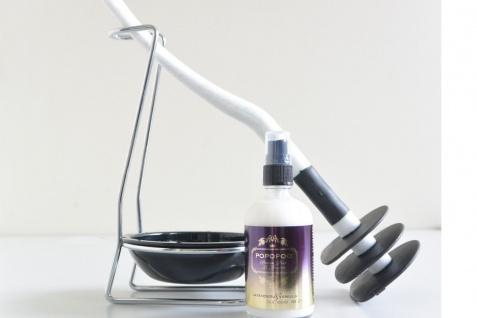 Mr Sanitär Granit + Zubehör+POPOPOO Toilettenspray/ Lavendel-Vanille Duft