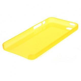 Schutzhülle für Apple iPhone 5 SE, 5C, 5S TPU/Cover/Bumper/Schale/ Gelb