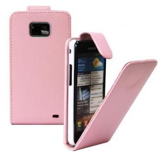 Für Samsung Galaxy S2/ i9100 Handy Flip Case Tasche Hülle Schutz Pink