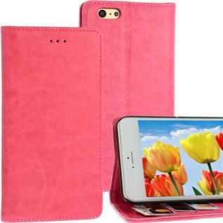 Bookstyle Case für Apple iPhone 6 PLUS pink Kartenfach Magnetverschluss Standfkt