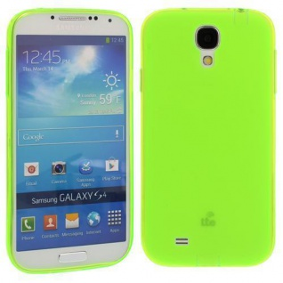Silikon Case für Samsung Galaxy S4 / i9500 Neongrün Etui Cover Bumper Schutz NEU