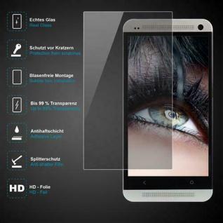 Premium Schutzglas 0, 3mm für HTC One M7 Echtes Glas, bis 99% transparent, Schutz