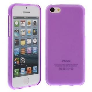 Silikon Case für Apple iPhone 5 SE, 5C Lila Etui Cover Bumper Tasche NEU
