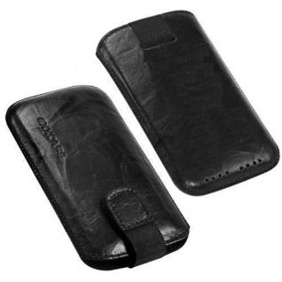 Für Samsung Galaxy Note Handy ECHT LEDER Tasche / Case / Etui/ Hülle Schwarz NEU