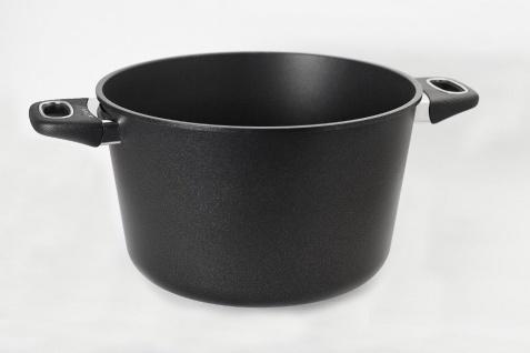 Gundel Guss-Kochtopf Ø 26 cm H-15cm mit Glasdeckel BIOTAN-Oberfläche Lotuseffekt - Vorschau 3
