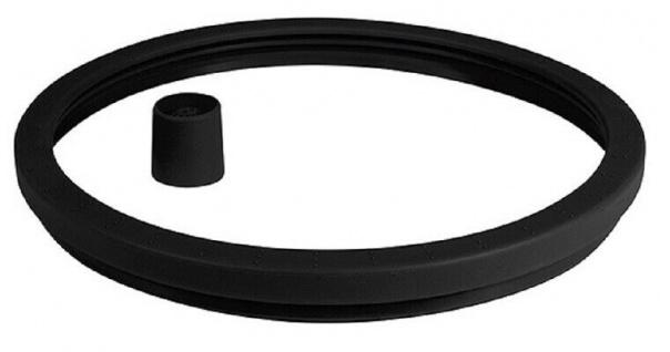Dichtring Silikon-Set Ø 24 cm Schwarz mit Ventilkappe