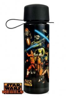 Star Wars Trinkflasche 475ml REBELS Motiv Ideal für Schule, Ausflüge, Sport uvm