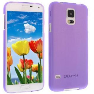 Für Samsung S5 i9600 LILA Slim TPU Case Cover Hülle Schale Schutzhülle Dünn NEU!