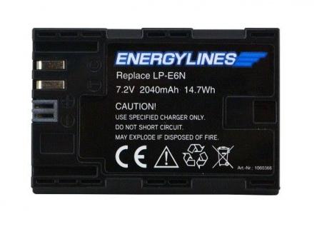 Akku Accu Battery Für Canon Lp-e6; Lp-e6n; Eos 5d Mark Ii Von Energylines Neu - Vorschau 1