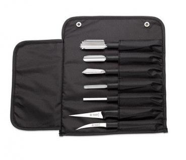 Giesser Messer Dekorierset bestehend aus 6 Schnitzmessern und 1 Keramikwetzstein