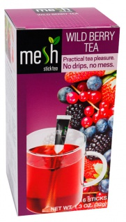 Mesh Stick Waldbeere Tee 16 Stück -Tropft nicht, mit Stick umrühren, genuss, tea