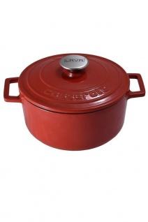 LAVA Cookware Topf Gusseisen 3, 4 Liter Volumen inklusive Deckel