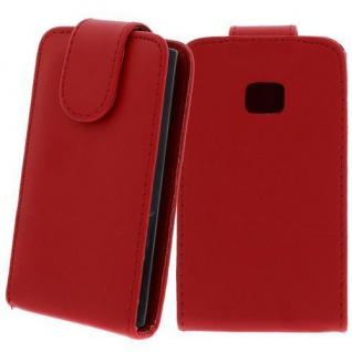 Für LG E400 / L3 Rot - Kunstleder Tasche, Handytasche, Case, Hülle, Schale, Schutz,