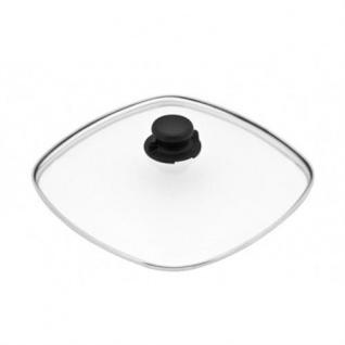 Sicherheits-Glasdeckel 26x26cm + Deckelknopf für Gundel Pfannen, Töpfe, Bräter
