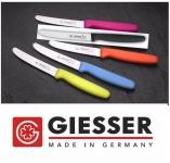 Giesser Messer 5x Allzweckmesser Wellenschliff 11cm Klinge in versch. Farben NEU