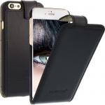 Flip Case Ledertasche für Apple iPhone 6 Schwarz Handytasche Smartphone LEDER