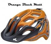 KED Fahrradhelm Trailon M(52-58cm), Orange Black Matt, maxSHELL, Made in Germany