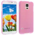 Für Samsung S5 i9600 ROSA Slim TPU Case Cover Hülle Schale Schutzhülle Dünn NEU!
