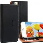 Bookstyle Wallet Case für Apple iPhone 6 schwarz Kartenfach Magnetschnalle NEU!