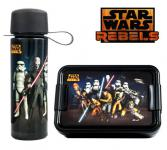 STAR WARS Lunch-Set Motiv: REBELS, Inhalt: 1x Lunchbox 1x Trinkflasche 475 ml