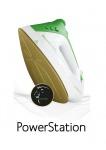 Loewe Powerstation weiß/grün mit Keramiksohle Dampfbügeleisen Dampfbügelautomat