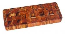 Teak Schneidebrett 46 x 15 x 5 cm, Rechteckig mit Griffaussparungen (TH315)