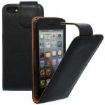 Für Apple iPhone 5C Schwarz - Kunstleder Tasche, Handytasche, Case, Hülle, Schut