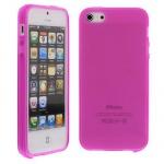 Silikon Case für Apple iPhone 5 SE, 5C, 5S Pink Etui Cover Bumper Tasche