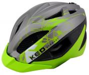 KED Fahrradhelm Gekko S(49-56cm), Grey Green Matt, maxSHELL, Made in Germany