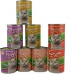 Premium Best Food Katzen Nassfutter Probemix (Lamm, Lachs&Thunfisch, Wild) 8 Dosen