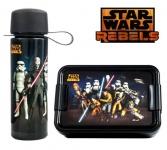STAR WARS Lunch-Set Motiv: REBELS, Inhalt: 1x Lunchbox 1x Trinkflasche 475 ml