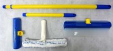 AquaBLADE Set Nr.2 Wischer mit Wasserauffangtank Wasserauffangrinne Silikonlippe