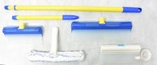 AquaBLADE Set Nr.3 Wischer mit Wasserauffangtank, Silikonlippe inkl Duschwischer