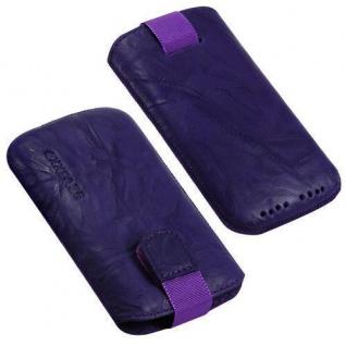 Für Handy ECHT LEDER Tasche / Hülle Lila