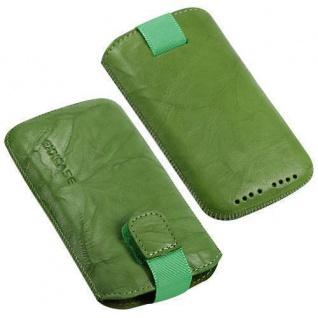 Für Handy ECHT LEDER Grün