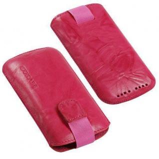 Für Handy ECHT LEDER Pink
