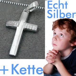 Kommunion Kreuz Anhänger Silber