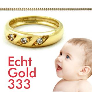 Baby Taufring Gold 333 Zirkonia