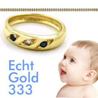 Jungen Taufring Safir Gold 333