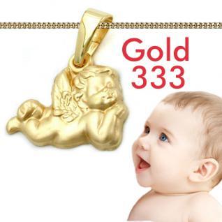 Kinder Taufe Schutzengel Gold 333 Anhänger