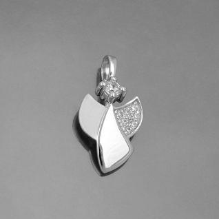 Tauf Kette Kinder Kommunion moderner Schutz Engel mit Zirkonia Echt Silber 925