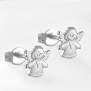 Schutz Engel mit Kreuz Ohrstecker Silber