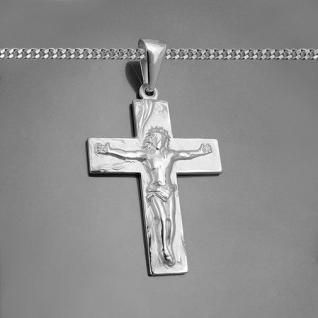 Männer Juwelier Jesus Kreuz Anhänger Echt Silber 925 mit 1, 7 mm Kette 55 cm Neu